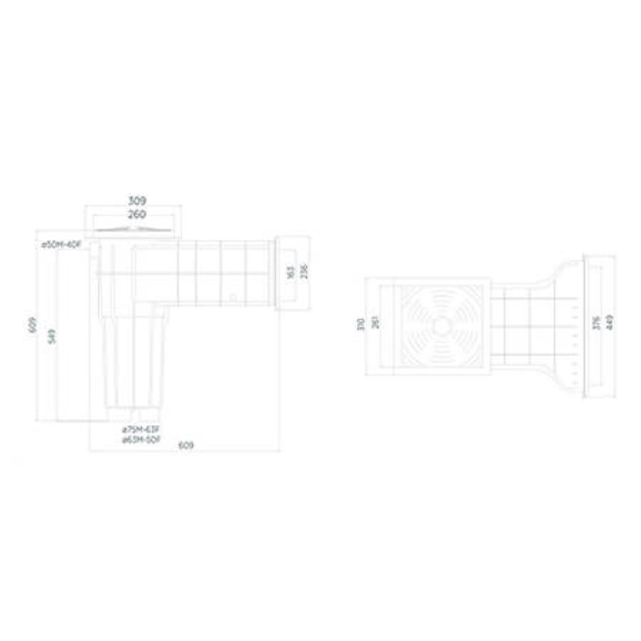 Geniş Ağızlı Maxi Skimmer (Betonarme ve Liner havuzlar için)
