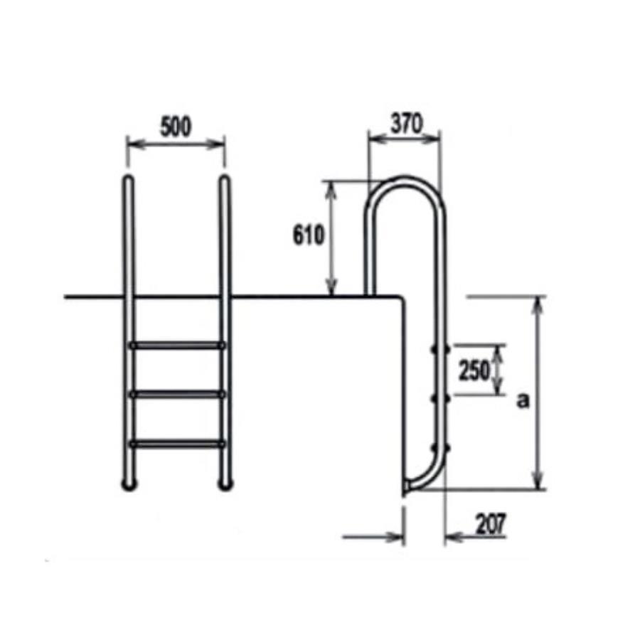 EQUA Muro Tip Merdivenler (AISI 304)