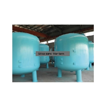 Epoxy Painted ST-37 Tank Surface Piping Sand Filter Systems