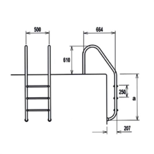 EQUA Standart Tip Merdivenler (AISI 304)